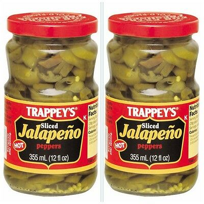 2 PACK TRAPPEY'S SLICED HOT JALAPENO PEPPERS free new orleans recipe 24 ozs