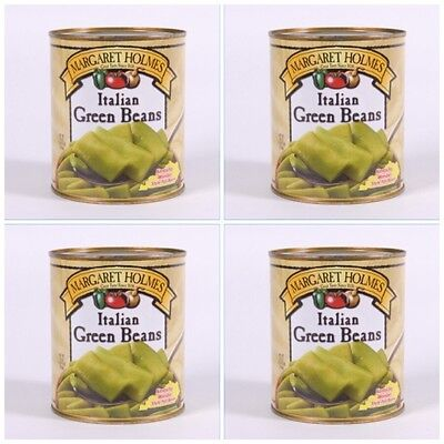 4 CANS MARGARET HOLMES ITALIAN GREEN BEANS free cajun recipe great with ham!