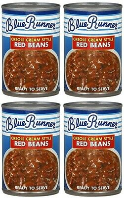 4 CANS CREOLE CREAM STYLE BLUE RUNNER RED BEANS free New Orleans recipe 16 oz