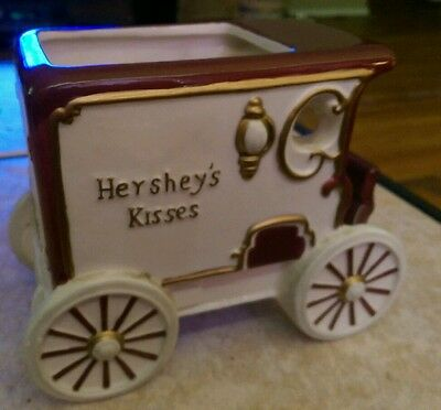 Hersheys Kisses Porcelain Stagecoach Candy Dish