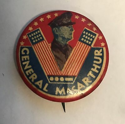 Vintage General Macarthur Button Used (S144)