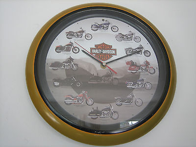 """2008 Harley-Davidson Motorcycles 13"""" Wall Clock With Exhaust Sounds **read Descr"""