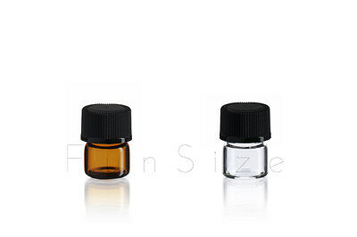 1ml Essential Oil Glass Vials WITHOUT Reducer WHOLESALE (1/4 Dram) 144Pc/Case
