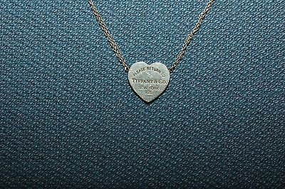 PLEASE RETURN TO TIFFANY & Co. HEART TAG STERLING SILVER NECKLACE 925