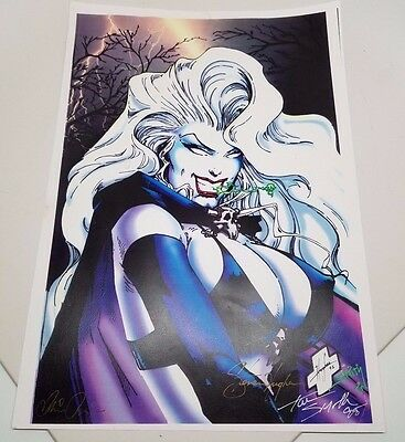 Lady Death Poster Print With Autographs Steven Hughes, Tom Smith & Brian Pulido!