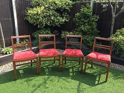 Antique 1950S Teak Dining Chairs R Foster Of Wigan Up cycle Or Restore Project