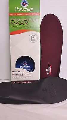 POWERSTEP PINNACLE MAXX Orthotic Arch Inserts Supports Shoe Insoles