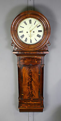 A Large Flamed Mahogany Wall / Tavern Clock Of Grand Proportions By Smith & Sons
