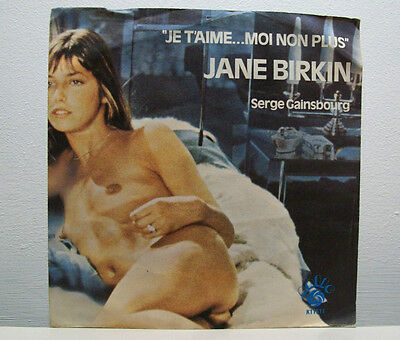 "SERGE GAINSBOURG & JANE BIRKIN - je t'aime.. moi non plus 7"" sexy picture sleeve"