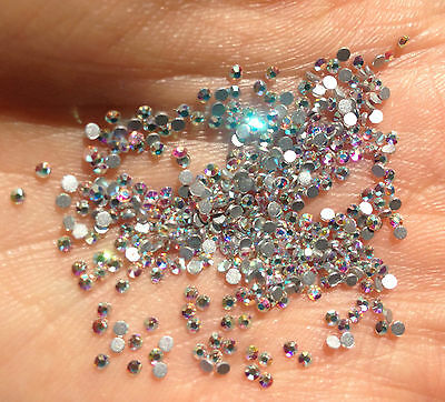 AB Swarovski Crystals Foiled Flatback 2058 Non Hot Fix ALL SIZES NAIL