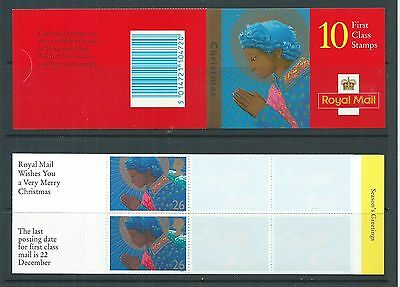 1998 LX15 LAMINATED  CHRISTMAS BOOKLET WITH 10 X 26p COMPLETE