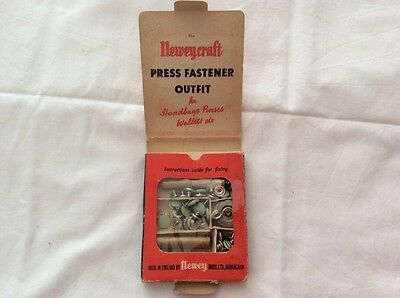 Vintage Neweycraft Press Fastener Outfit For Leathercraft Work