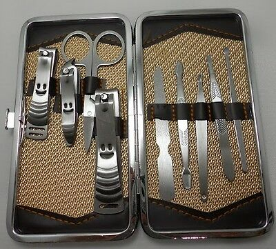 BeautyMax - Manicure-set,9-pcs,set Manicure stainless steel,with luxury box, New