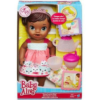 New Baby Alive Tea Cup African American  Surprise Doll