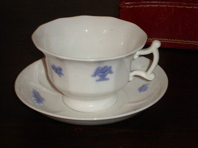 Adderley English Bone China BLUE CHELSEA Cup & Saucer