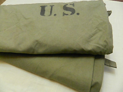 WWII US Army 2 x airborne Shelter half Tent dated 1942