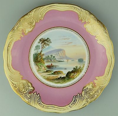 Antique : An attractive hand painted porcelain Plate - Lake Killarney