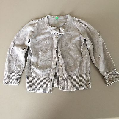 Benetton grey girls jacket with bow size 2 years