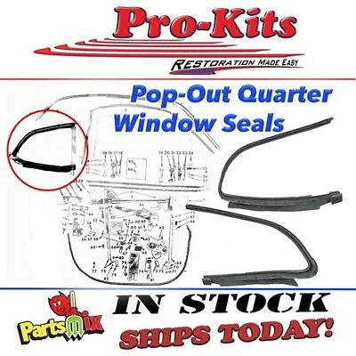 Mopar 70 71 72 73 74 75 76 Duster Demon Dart Sport Pop Out Quarter Window Gasket