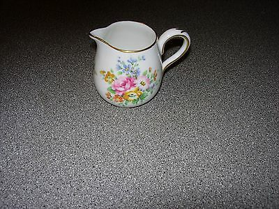 Crown Staffordshire Fine Bone China Small Cream /Milk Jug
