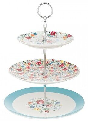 Cath Kidston 3 Tier Ditsy Mews Cake Stand Brand New Boxed