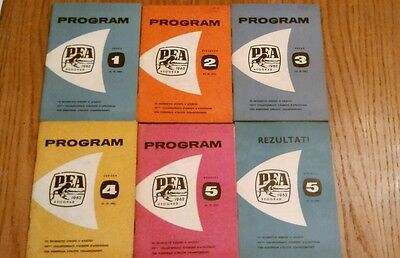 1962 European Athletic Championships Belgrade Days, 1,2,3,4,5&results Programmes