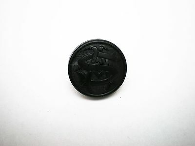 Vintage AS Initial Livery Button 18mm Black Plastic