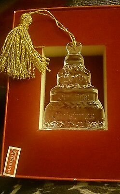 waterford marquis Christmas ornament