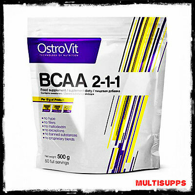Ostrovit BCAA 200 & 500g Branched Chain Amino Acids leucine recovery