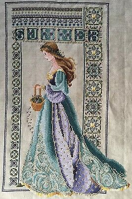 Lavender & Lace Celtic Summer Completed Cross Stitch