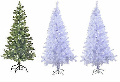 Kingfisher Green,White Black Artificial Traditional Christmas Tree 2,3,4,5.6&7Ft