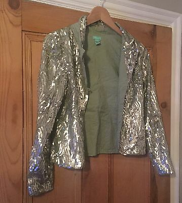 Girls Gorgeous Monsoon Silver Lined Jacket Age 12-13 Y New