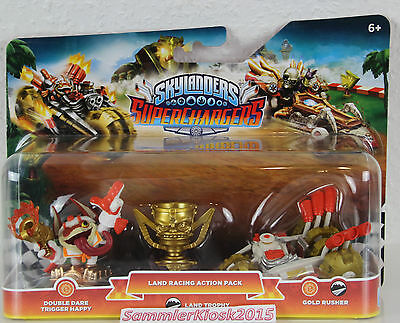 Land Racing Action Pack Skylanders SC -  Double Dare Trigger Happy & Gold Rusher