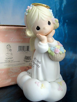 Precious Moments Missing You Angel Figurine 524107 + Box 1st Mark Enesco