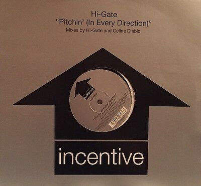 """Hi-Gate - Pitchin' (In Every Direction) - Trance Classic - 12"""" Vinyl"""