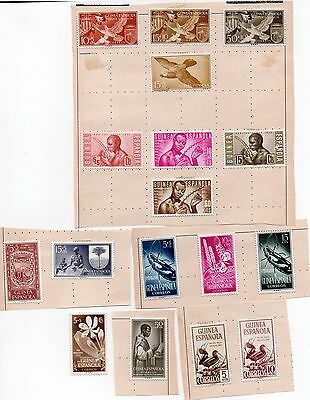 Selection of Stamps of Guinea Espanola from Stamp Album