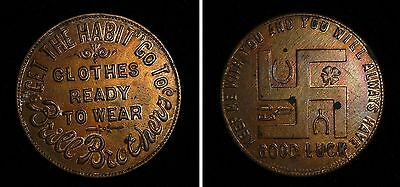 Early Brill Brothers Clothing Good Luck Token