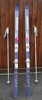 190cm Rossignol Traditional Ski's and Poles