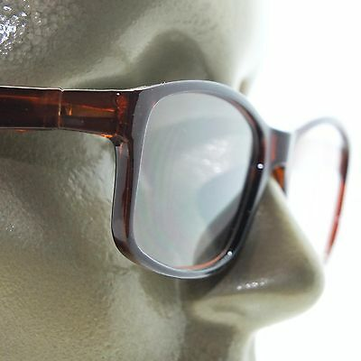 2c4886693dd Reading Glasses Square Eyes Readers Bold Coffee Brown Frame +2.50 Lens
