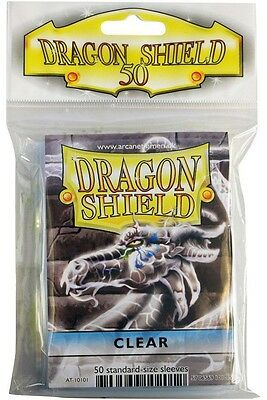 Dragon Shield - Clear 50 protective Sleeves - Clear fixed Cases