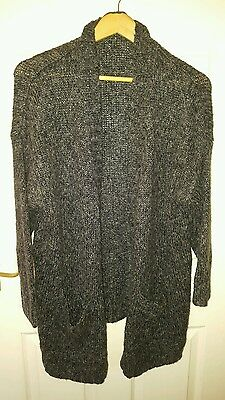 Mothercare maternity cosy chunky cardigan size M black charcoal