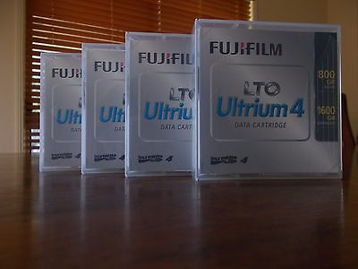4x FUJIFILM LTO 4 Ultrium Data Tape Cartridge RW 800/1600 1.6TB Free Post+Track