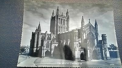 old photograph postcard, Hereford Cathedral England