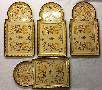 Set of 4 Square Nest 2004 Plates / Snack or Sandwich Trays ?