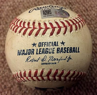 Miguel Cabrera MLB Holo Game Used Baseball Home Run 2015 Detroit Tigers