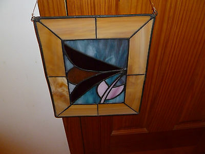 Stained Glass Window Panel (vintage) Pretty