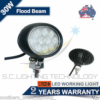 4 x 30W CREE LED Work Light / Flood, Oval / Tractor, Truck, Forklift