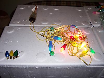 Set of 16 Vintage Christmas Lights in working condition with 4 spares #4