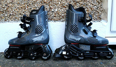California Pro TXT 650 Inline Roller Blades/Skates size 7 + Protectors