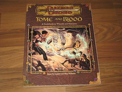 D&D 3.0/3.5 Edition Tome and Blood A Guidebook to Wizards and Sorcerers WTC11845